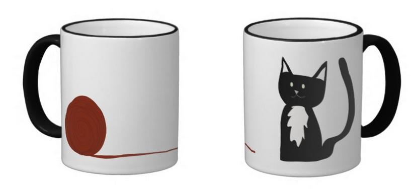 Tuxedo Cat Mug Design