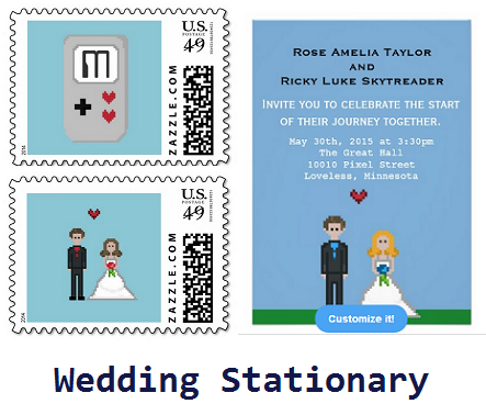 Geek Wedding Invites