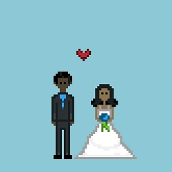8bit wedding geek invite