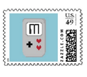 Gamer Wedding Stamp