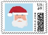 Pixel Santa Postage Stamp