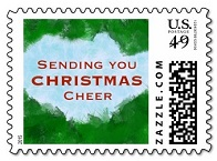 Sending Christmas Cheer Postage Stamp