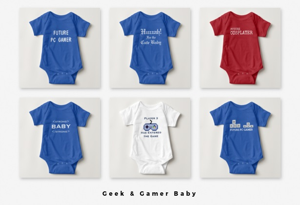 Geek Gamer Baby Onesies Clothes