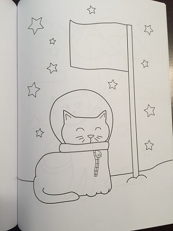 Cats in Space: A Coloring Book for Kids Julie Wenzel