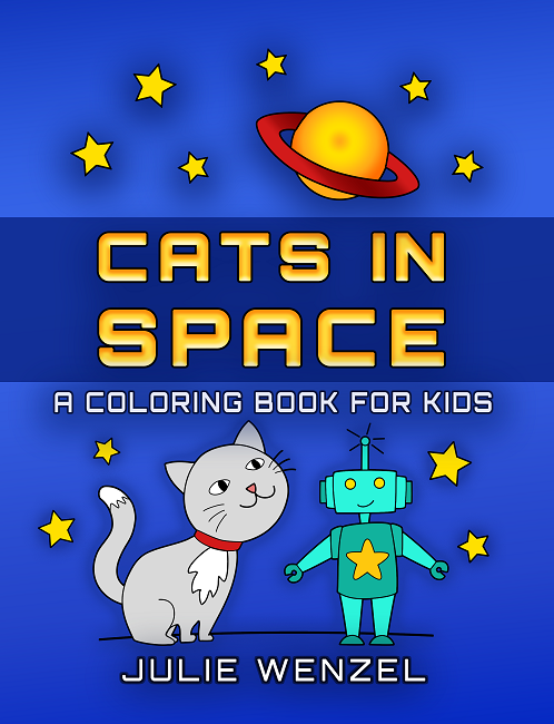 Cats in Space Coloring Book Julie Wenzel