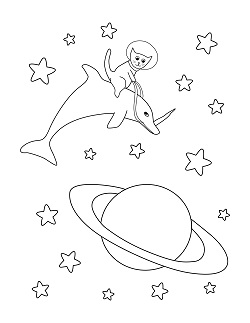 Cats In Space A Coloring Book For Kids Julie Wenzel Author